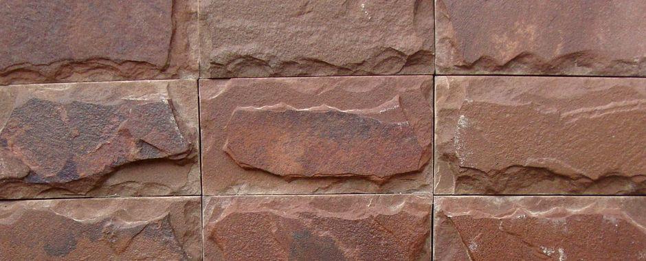 Серо-зеленая терракотовая (термообработанная) плитка изростовского песчаника пиленого с4-х сторон сзаколом