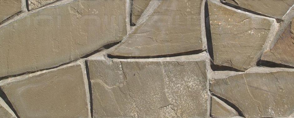 Серо-зеленый плитняк изростовского песчаника