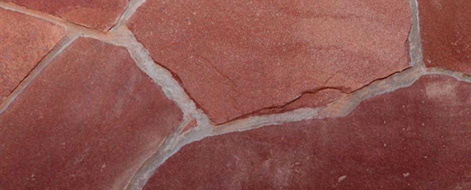 Серо-зеленый терракотовый (термообработанный) плитняк изростовского песчаника